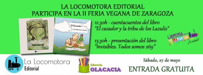 La Locomotora Editorial participa en la II Feria Vegana de Zaragoza